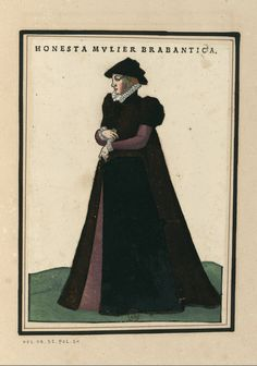 Elizabethan Gown, Bnf, Low Country, Gravure, 17th Century, Renaissance, Germany, Cloche, Illustration