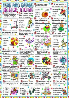 Third worksheet in a set on toys and games. Here students read the sentences describing the different toys and games and choose the right option. I hope you like it and find it useful. Have a wonderful Tuesday. Reading Worksheets, Vocabulary Worksheets, James And Giant Peach, Student Reading, Learn English, Esl, Hugs, Sentences, Activities For Kids
