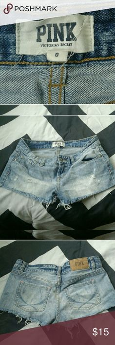 VS Pink Shorts Nice voctoria secret shorts! Comes with a free gift! PINK Victoria's Secret Shorts Jean Shorts
