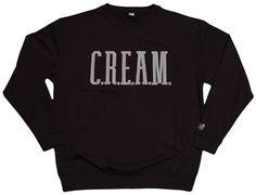 Rocksmith x Wu-Tang Clan - C.R.E.A.M. - Gray Applique - Men's Crewneck Sweatshirt