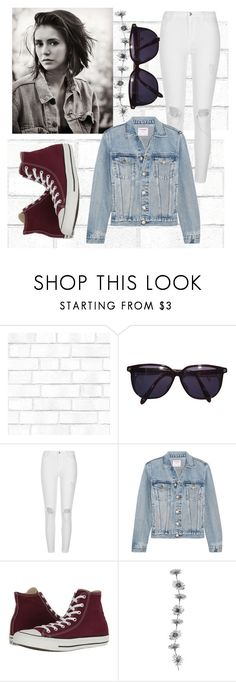"""""""Denim"""" by snuggle-styles ❤ liked on Polyvore featuring Tempaper, Sonia Rykiel, River Island, Frame and Converse"""