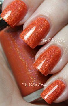 Summer orange gel polish!