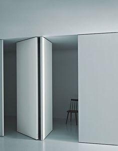 Partition wall PIVOT by Porro design Decoma Design Pivot Doors, Internal Doors, Murs Mobiles, Interior Architecture, Interior And Exterior, Installation Architecture, Door Design, House Design, Wall Design
