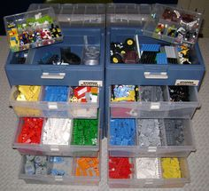 Lego storage idea - totally fits my organization just don't know if the kids would EVER do it.
