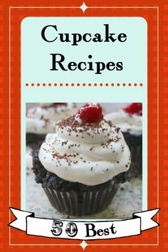 Over 50 of the best cupcake recipes imaginable. No matter what kind of cake youre in the mood for whether its fudgy chocolate some unique flavor or something with fresh fruit Ive got you covered with this list. Basic Cupcake Recipe, Gourmet Cupcake Recipes, Cupcake Flavors, Potluck Recipes, Dessert Recipes, Party Recipes, Fancy Cupcakes, Creative Desserts, Frosting Recipes