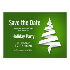Christmas Tree Holiday Party Save The Date