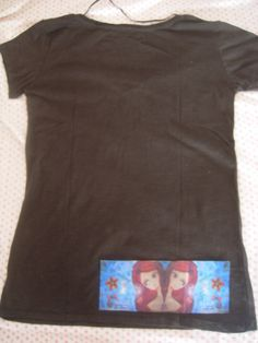 Whimsical Art T Shirt with a fabric art print by a Pink by eltsamp, $48.00