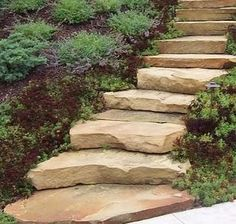 How to Build Stone Steps thumbnail Comment construire des marches en pierre thumbnail Landscape Stairs, Landscape Design, Garden Design, Stepping Stone Pathway, Stone Paths, Landscaping On A Hill, Landscaping Ideas, Shade Landscaping, Outdoor Landscaping