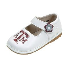 Squeak Me Shoes Girls' University of Texas A&M Mary Jane
