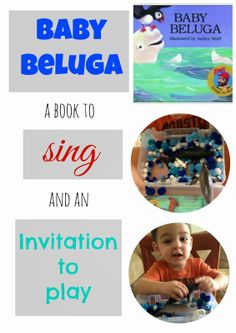 Baby Beluga: Book and Invitation to Play | toddler activity | preschool arctic theme