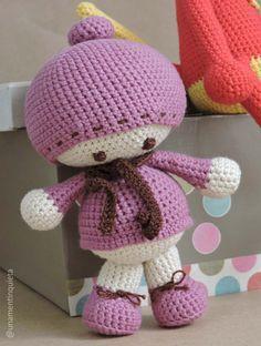 Tekubi va a la nieve #amigurumi #muñeca #patrón