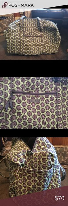 Vera Bradley large duffle - brand new! Vera Bradley large duffle, only used once. Absolute perfect condition, no stains and no tears. Vera Bradley Bags Travel Bags