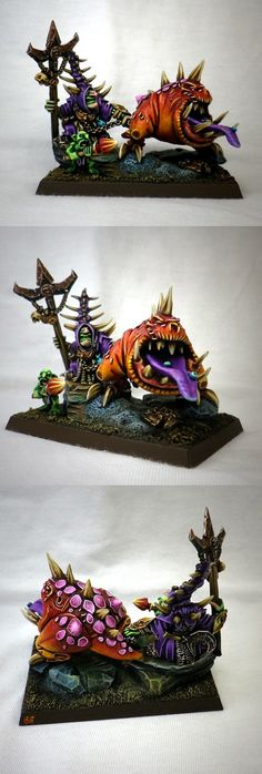 goblin with creature painted mini