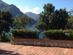 Looking from our deck in Scopello, Sicily to the nature Reserve, Zingaro