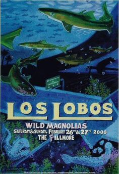 Original Bill Graham Poster by Christopher Peterson for Los Lobos, Wild Magnolias at The Fillmore Auditorium, San Francisco, CA Pop Posters, Concert Posters, Rock & Pop, Rock And Roll, Lucas Lima, Fillmore West, Rock Band Posters, Vintage Music Posters, Pops Concert