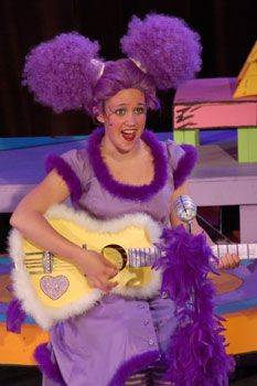 """This is by far the puffiest and purplest Gertrude I've ever seen. (If you love Seussical, check out my novel """"Bit Players, Bird Girls and Fake Break-Ups"""".)"""