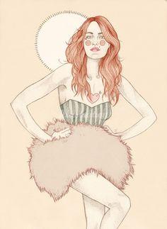 Liz Clements, fashion portrait illustrator