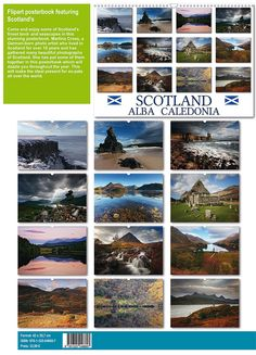 Well, my last project for this year is my very first posterbook or flipart. Scotland Alba Caledonia is only available in the size A3 and will make the ideal pressie for any Scotland fan or ex-pat a...