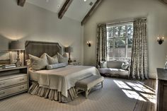 patterned-curtains-in-master-from designer Cindy Witmer