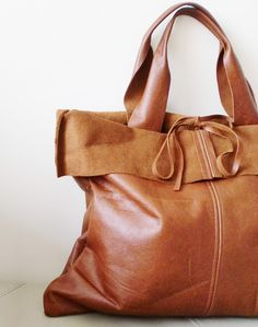 Basico collection - leather tote in waxy toast brown (made to order)