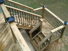 deck stairs with landing design by distinctive designs 4 you incorporated - Exterior Stairs Designs