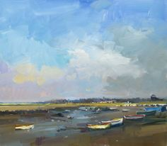 Summers Day Morston, Oil on Board 71 x 81cm