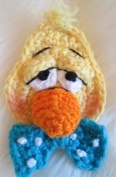 Duck Crochet Applique