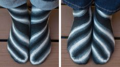 Wraptor sock : Winter 2013 - These are awesome! Fom the designer: This pattern does not require expert knitting skills, but it does require strong spatial skills and/or a willingness to trust the pattern's instructions even if they seem wrong to you. If you surrender yourself to the instructions you will quickly see Wraptor's underlying rhythm, but you will probably wonder how it can possibly turn into a sock that will fit you. It will. Trust me -- I've done the math.