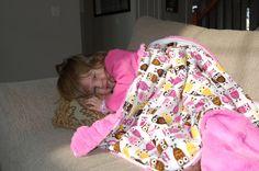 Baby Love Blanket  Robert kaufman Owls minky by NanaKidsDesigns, $35.00