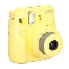 #Fuji Instax Mini 8 Film Camera - #Yellow  #camera #filmcamera
