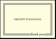 smart and simple thank you notes