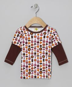 Take a look at this Brown Telly Monster Organic Layered Tee - Infant, Toddler & Kids by Kiwi Industries on #zulily today!