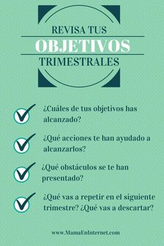 #OBJETIVOS #TRIMESTRALES Work Productivity, Start Ups, Corporate, Self Motivation, Leadership Quotes, Professional Development, I Can Do It, Business Planning, Business Marketing