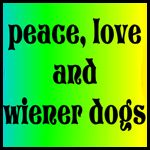 peace, love, and wiener dogs (pinned from their blog)