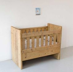 wood crib (would stain darker and distress more)