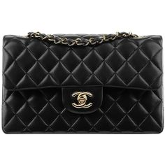 Pre-owned Black Quilted Chanel Shoulder Bag (207.635 RUB) ❤ liked on Polyvore featuring bags, handbags, shoulder bags, chanel, black, quilted purse, preowned handbags, quilted handbags and shoulder hand bags