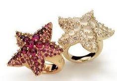 pomellato starfish rings
