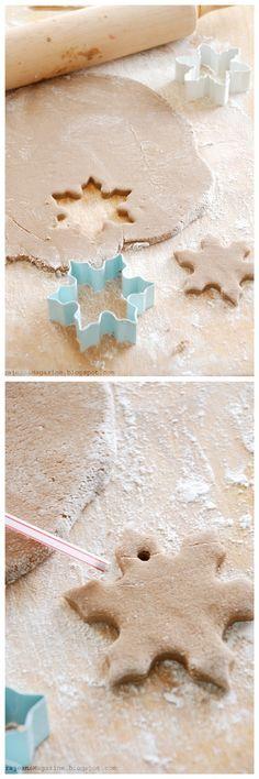"Lorajean's Magazine,: Tutorilal: How to make christmas salt dough ""cookie"" ornaments"