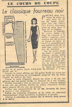 Couture vintage : robe fourreau noire - paminatelier.com - les tutos de Pamina