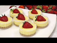 Cum se face un Cheesecake! Rețetă simplă! Căpșuni și brânză - YouTube Ricotta, Cheesecakes, Cake Cookies, Food To Make, Muffins, Strawberry, Easy Meals, Cooking, Sweet