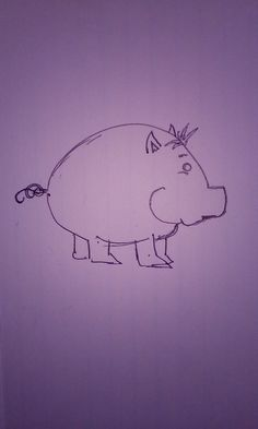 2-16-2016 Chubby Cartoon Pig - Inspired by Waddles