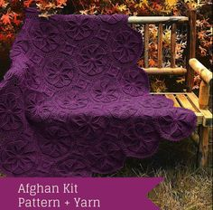 Grenoble Afghan Crochet Kit - The texture almost pops right off of this heirloom-worthy throw! Featuring a breathtaking octagonal motif, the floral patterning of this luxurious piece lends it crocheted dimension not soon to be forgotten. Afghan Crochet Patterns, Crochet Stitches, Crochet Hooks, Knit Crochet, Needlepoint Stitches, Blanket Patterns, Crochet Afghans, Free Crochet, Half Double Crochet