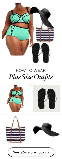 """""""Plus Size Summer Pt 1"""" by fashioncraze15 on Polyvore featuring Abercrombie & Fitch and Accessorize"""