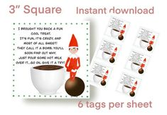 Hot Chocolate Gifts, Chocolate Quotes, Christmas Hot Chocolate, Chocolate Diy, Chocolate Bomb, Hot Chocolate Bars, Christmas Labels, Christmas Elf, Christmas Ideas