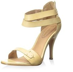 Corso Como Womens Turks Leather Open Toe Formal Ankle Strap Nude Size 95 unll