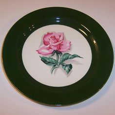 "Homer Laughlin Rhythm Rose 7 1/4"" Plate from ruthsredemptions on Ruby Lane"
