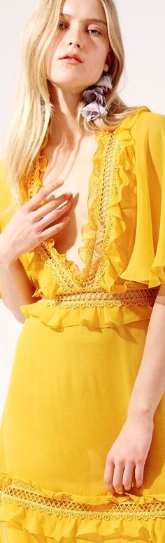 Canary Yellow Dress, Jaune Orange, Yellow Fashion, Shades Of Yellow, Floral Crown, Spring Colors, Pantone Color, Wedding Colors, Casual Dresses