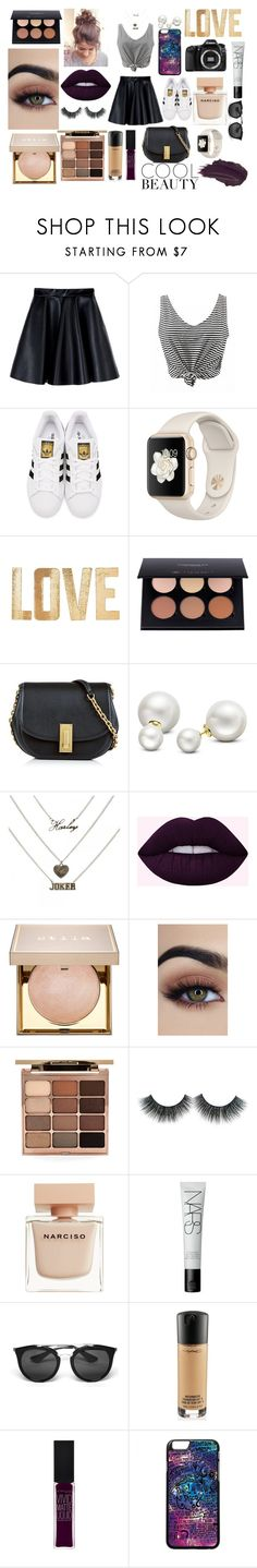 """purple"" by mafecastillo715 on Polyvore featuring moda, MSGM, adidas Originals, PBteen, Eos, Anastasia Beverly Hills, Marc Jacobs, Allurez, Stila y Narciso Rodriguez"