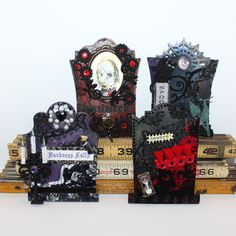 By Justine Armendariz for the Retro Café Art Gallery 2014 Tombstone Art Swap!  www.RetroCafeArt.com