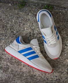 adidas Iniki Runner 'Off White, Blue & Core Red' - EU Kicks: Sneaker Magazine